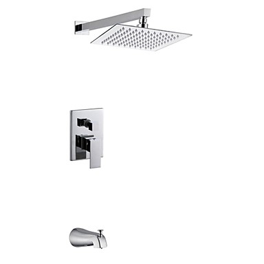 8 inch perete crom modern de montare ploaie manere duble duș alama robinet cu duș și robinet robinet