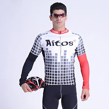 Jaggad Cycling Jersey Men's Long Sleeves Bike Jersey Top Breathable Polyester Elastane Spring Fall/Autumn Cycling/Bike