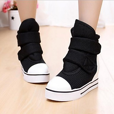 Women's Shoes Rubber Polyester Winter Spring Summer Fall Comfort Platform Split Joint for Casual Outdoor Grey Black