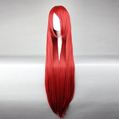 Peruci de Cosplay Basme Elza Scarlet Roșu Lung Anime Peruci de Cosplay 100 CM Fibră Rezistentă la Căldură Feminin
