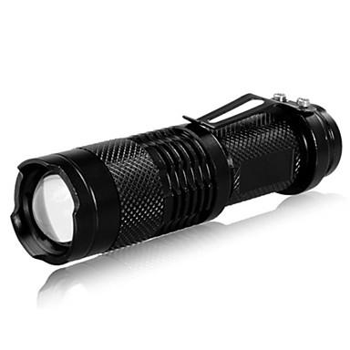 LED Taschenlampen LED 240 lm 3 Beleuchtungsmodus Taktisch / Zoomable- / einstellbarer Fokus Camping / Wandern / Erkundungen / Für den täglichen Einsatz / Angeln Schwarz