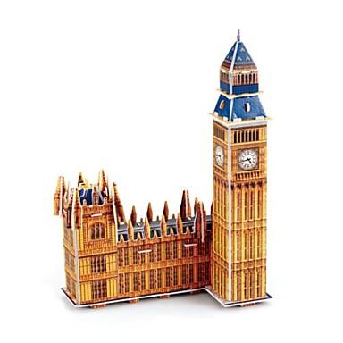voordelige 3D-puzzels-Legpuzzels 3D Puzzles Bouw blokken DIY Toys beroemde gebouwen Papier Modelbouw & constructiespeelgoed