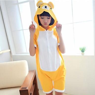 ca9a8ffa7e74 amarillo unisex de algodón rilakkuma pijama kigurumi animal adulto para el  verano