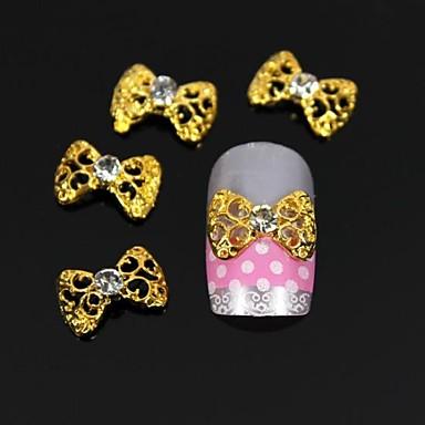 10 buc de aur papion gol 3d unghii din aliaj de DIY decorare artă