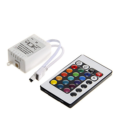 DEM 6a 72w ir cu 24 de taste controler de la distanță rgb condus pentru rgb led lumina strip (dc12v)