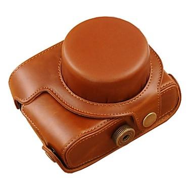 dengpin® lederen beschermhoes camera case olie huid met schouderband voor Canon PowerShot G1X Mark II G1X m2