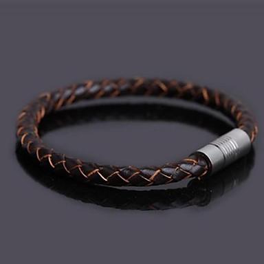 Lederen armbanden Uniek ontwerp Modieus Kleurrijk PERSGepersonaliseerd Roestvast staal Leder Sieraden Sieraden Voor Causaal Kerstcadeaus