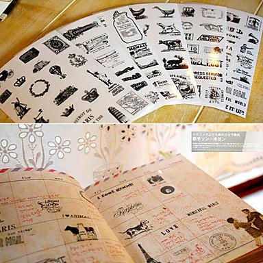 jurnal scrapbooking autocolante decorative turn balon cu aer cald (6 buc)
