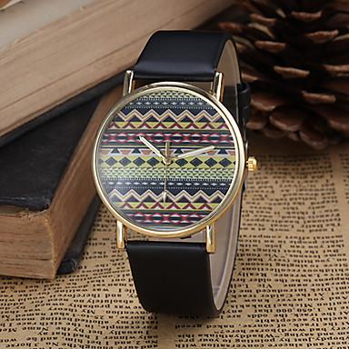 Damen Quartz Armbanduhr PU Band Böhmische / Modisch Schwarz / Weiß / Blau / Rot / Braun / Rosa