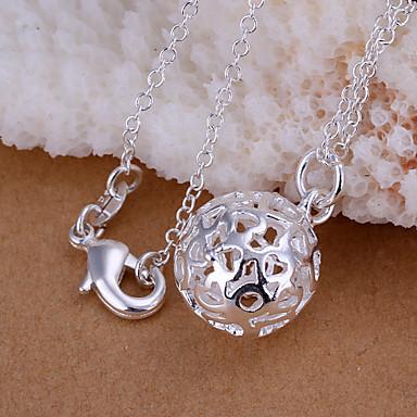 vilin dames zilveren bal hanger elegante klassieke vrouwelijke stijl