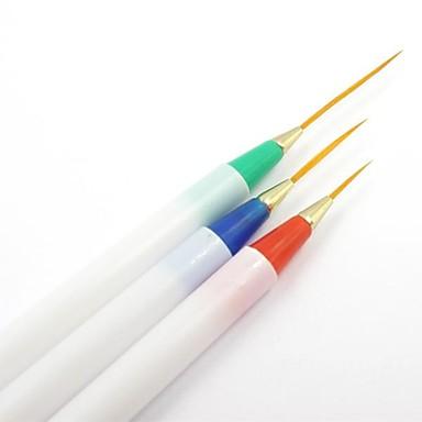 3pcs false acrilice nail art Instrumente de pictură pictura de linie pentru DIY proiectare decoratiuni de unghii