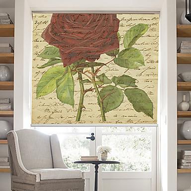 Pagina cuvinte retro cu flori de trandafir de fundal umbră cu role