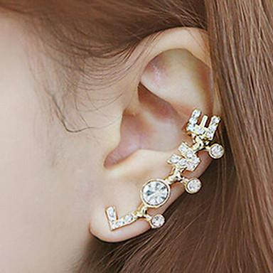 Punhos da orelha Amor Jóias inicial Strass imitação de diamante Liga Jóias Para Diário Casual 1peça