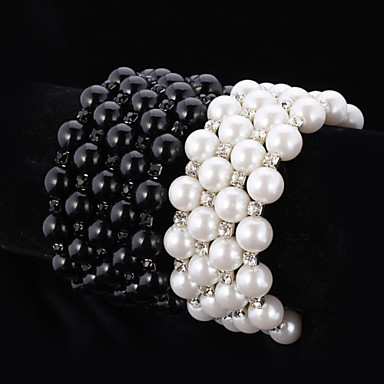 Women's - Chain White Black Bracelet For Wedding Party Special Occasion