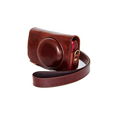 dengpin® lederen afneembare beschermende cameratas tas dekking olie huid voor Canon SX700 hs