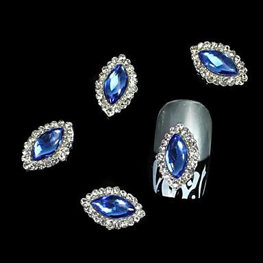 10 buc albastru Marquise DIY accesorii din aliaj de unghii arta decorativa