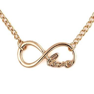 Dames Hangertjes ketting Verklaring Kettingen Oneindigheid Legering Liefde Modieus Initial Jewelry Sieraden VoorSpeciale gelegenheden