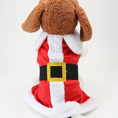 honden kostuums Jassen Hondenkleding Schattig Cosplay Kerstmis Kleurenblok Rood