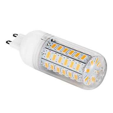 G9 LED Mais-Birnen T 56 Leds SMD 5730 Warmes Weiß 1200lm 3000-3500K AC 220-240V