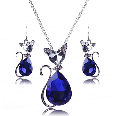 Women's Crystal Party Alloy Earrings Necklaces
