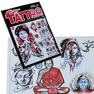 menschlichen Porträt Tattoo Musterbuch