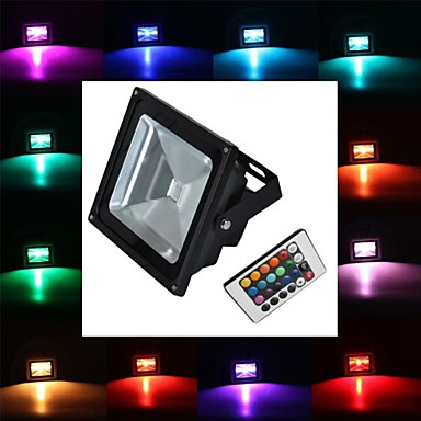 billige Elpærer-LED-lyskastere 2900 lm 1 LED perler Høyeffekts-LED Fjernstyrt RGB 85-265 V