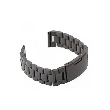 mannen vrouwen 22mm zwart stalen horloge band band armband universele hoge kwaliteit