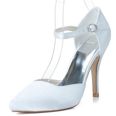 Pentru femei Pantofi Satin Primăvară Vară Toc Stilat Decupat pentru Nuntă Party & Seară Alb Roz Argintiu Albastru Violet