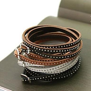 Кожаные браслеты Многослойный Кожа Бижутерия Назначение Свадьба Для вечеринок Повседневные Новогодние подарки