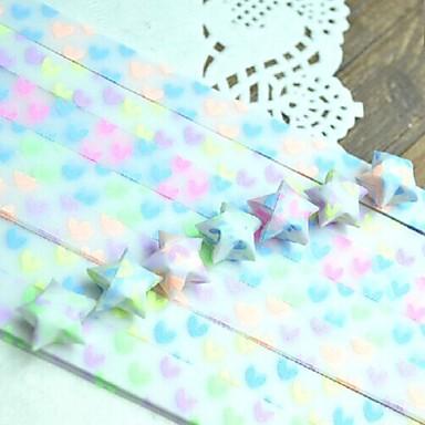 30 stuks tl-effect hart patroon lucky star origami materialen (willekeurige kleur)