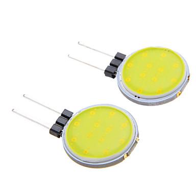 g4 2w cob 160lm 6000K wit licht led spot lamp (12V 2 stuks)