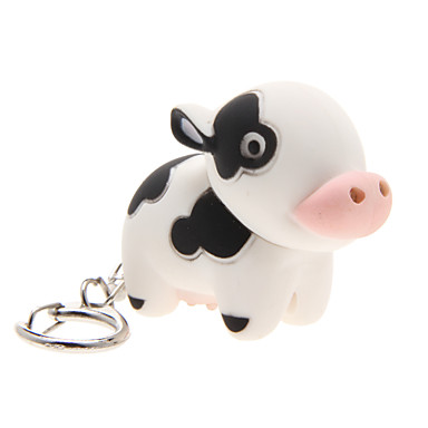 Iluminat LED Breloc Jucarii Breloc Iluminat LED Ήχος Cow ABS LED Design Animal Desen animat Luminos Iluminată Bucăți Bărbați Pentru femei