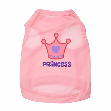 Gato Perro Camiseta Ropa para Perro Tiaras y Coronas Rosa Rosa Terileno Disfraz Para Primavera & Otoño