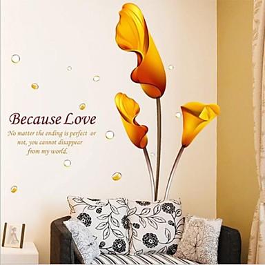 Romantik Botanisch Wand-Sticker Flugzeug-Wand Sticker Dekorative Wand Sticker, Vinyl Haus Dekoration Wandtattoo Wand