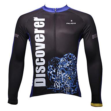 ILPALADINO Herre Langærmet Cykeltrøje Dyr Cykel Trøje, Hold Varm, Hurtigtørrende, Ultraviolet Resistent