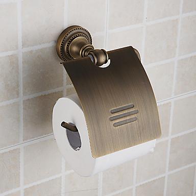 toliet Hodler hârtie, antic materiale de finisaj alamă alamă, accesorii baie