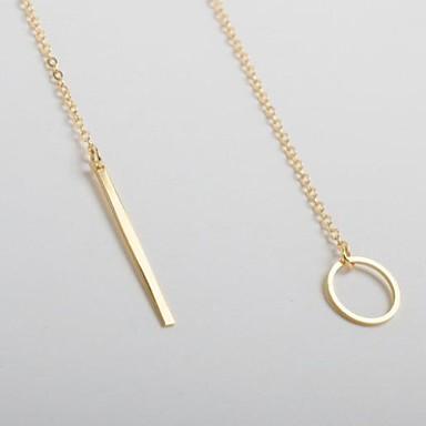 Жен. Ожерелья с подвесками - Мода Золотой Ожерелье Назначение Для вечеринок, Повседневные, Спорт