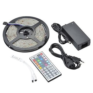 ZDM® 5m Leuchtbänder RGB 150 LEDs 5050 SMD 1 44Tastenfernbedienung / 1 x 12V 3A Adapter RGB Wasserfest / Dekorativ 12 V 1set / IP65