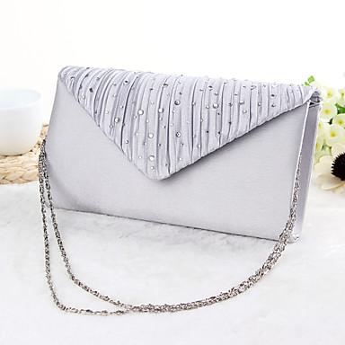 levne Svatební kabelky-dámské tašky polyester večerní taška křišťál / drahokam černá / stříbro / meruňka / svatební tašky / svatební tašky