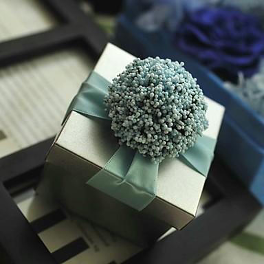 12 Шт./набор Фавор держатель-Кубик Никелированный металл Подарочные коробки Без персонализации