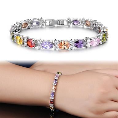 Damen Zirkon Ketten- & Glieder-Armbänder Bettelarmbänder Tennis Armbänder - Armbänder Für Weihnachts Geschenke Hochzeit Party