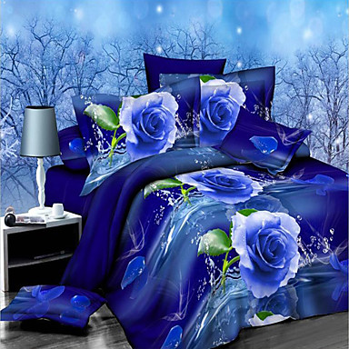 shengyue 3d цветочный принт постельное белье четыре кусок