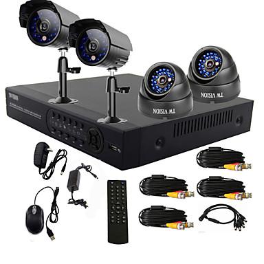 twvision® 4 kanals ett-trykks online CCTV dvr system (4 kanals d1 opptak)