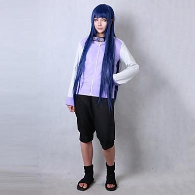 Ihlette Naruto Hinata Hyuga Anime Szerepjáték jelmezek Cosplay ruhák Kabát Rövidnadrágok Kompatibilitás Nő