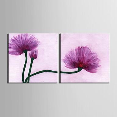 e-home® stretch panza ești flori roșii set pictura decorativa de 2