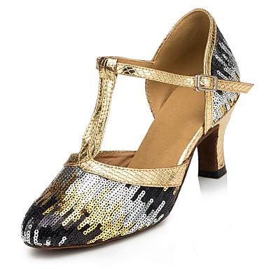 Pentru femei Modern Paillertte Toc Înalt Paiete Dantelă Toc Personalizat Auriu Albastru regal 2