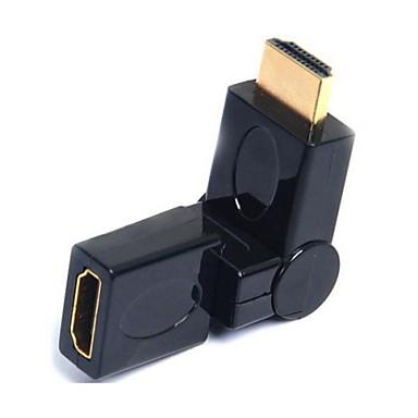 lwm® HDMI-Anschluss Schoner Adapter männlichen zu weiblichen Koppler 360 ° drehbar
