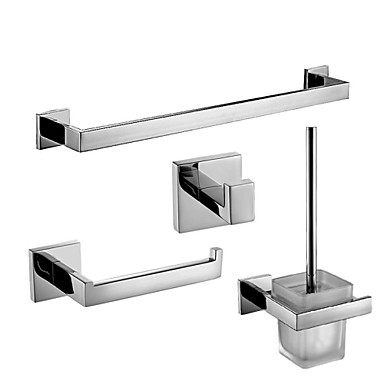 Contemporary Stainless Steel Mirror Polished Bathroom Accessory Sets