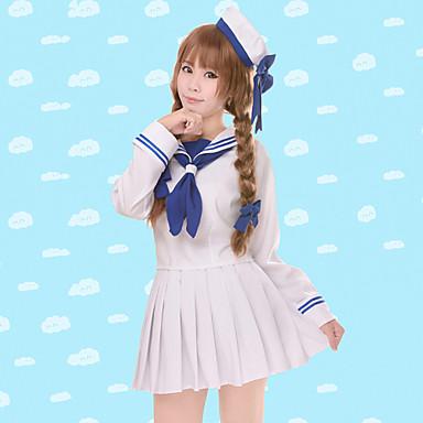Inspiriert von Wadanohara Cosplay Anime Cosplay Kostüme Cosplay Kostüme Solide Langarm Top Rock Ärmel Hut Für Damen