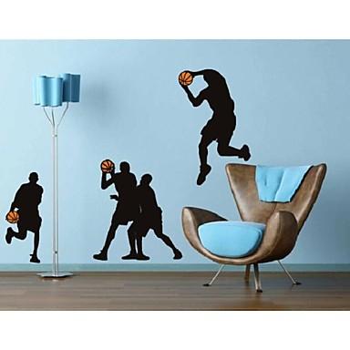 Mensen Sporten Muurstickers Schoolbord muurstickers Decoratieve Muurstickers, Vinyl Huisdecoratie Muursticker Wand